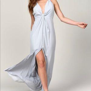 Eyes on you light blue maxi dress